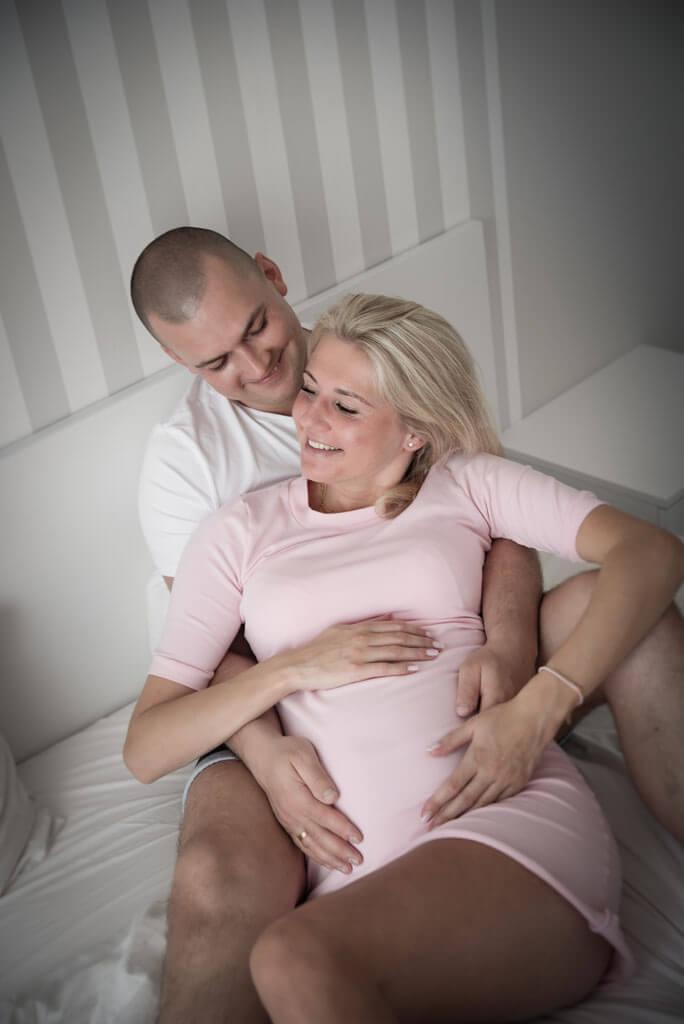 naturalna sesja ciążowa